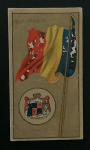 1895 NATIONAL FLAGS AND ARMS AMERICAN TOBACCO CO CIGARETTE CARD ROUMANIA