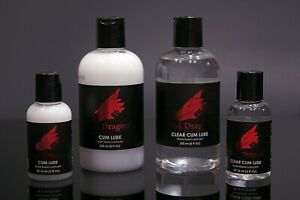 🐲 Bad Dragon Cum Lube 💦 Water-Based Personal Lubricant 8oz 2oz White Clear