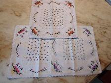 12 mouchoirs femme 100% coton tissées festonnés n°234