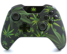 """Soft Touch 420 Black"" XBOX ONE CUSTOM UN-MODDED CONTROLLER (3.5 JACK)"
