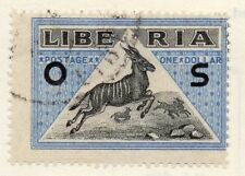 Liberia 1920s Officials Early Issue Fine Used $1. Optd 151453