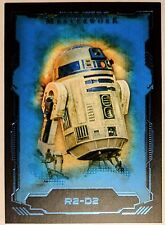 2016 Topps Star Wars Masterwork R2-D2 Artoo-Detoo #12 Blue Metallic Parallel