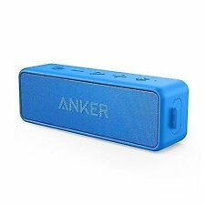 Anker SoundCore 2 Bluetooth Speaker With Better Bass 24-hour Playtime 66ft Blu