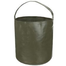Mfh Práctico fuente plegable o cubo acampar exterior Schüssel oliva 10 litros