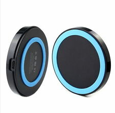 Universal Qi Wireless Charger Receiver Pad & USB Cable for Samsung Smart PHONES Black Blue