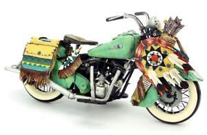 Indian Vintage Harley Motorcycle Metal Diecast Desk Moto Model Toy Collectibles