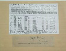 Captain Patrick Robert Napier World War I Ace 12 Victories War Dated Autograph