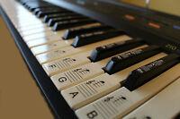 Keyboard or Piano LAMINATED Sticker Sets Educational Toys upto full size 88 keys