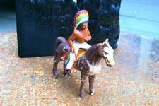 COMPOSITION Unbranded Wild West WW Indian Mounted Still Horse P Height ~13cm