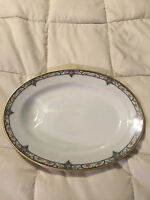 VINTAGE FRANCE THEODORE HAVILAND LIMOGES SMALL FLORAL OVAL PLATTER DISH PLATE