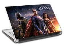 Batman V Superman Personalized LAPTOP Skin Vinyl Decal Sticker WITH NAME L54