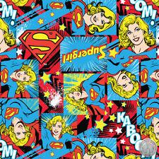 Girl Power II Supergirl Fabric by the yard Super Girl DC Comics
