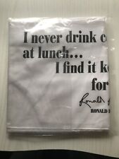 NEW CHEF STYLE WHITE APRON RONALD REAGAN LOGO NEW