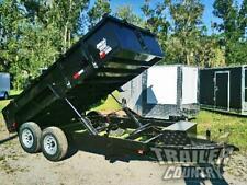 "New 2021 7x14 7 x 14 14K Gvwr Hydraulic Dump Trailer Equipment Hauler 24"" Sides"