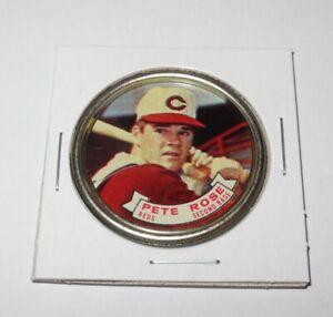 1964 Topps Baseball Coin Pin #82 Pete Rose Cincinnati Reds Near Mint