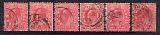 GB = E7 1d Scarlet (Shades) SG219 / 220. Used. Choose your stamp. (N19r)