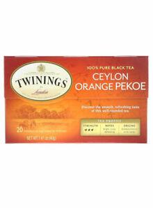 Twinings Ceylon Orange Pekoe Tea 1.41ounce Pack of 20