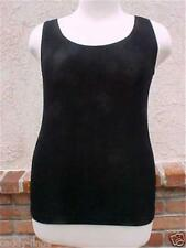 eed550c218d08 NEW NWT SLINKY BRAND M BLACK ORIGINAL TANK TOP ACETATE SPANDEX TRAVEL  STRETCH