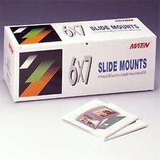 Matin 50pcs 6x7cm Film SLIDE MOUNTS 8.5x8.5 Format Mount Case Frame Carousels a
