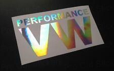 150mm (15cm) Performance VW Hologramm Chrom Auto Aufkleber DUB-VW SZENE EURO VAG