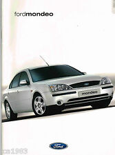 Lrg. 2000?2001 Ford MONDEO Brochure / Catalog, ITALIAN?: Berlina,Ghia