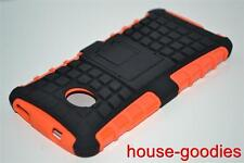 Orange Heavy Duty Strong Dual Layer TPU Hard Case Cover Stand for HTC One 801 M7