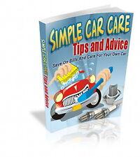 Simple Car Care Tips & Advice - Make Your Car Last Longer - Do It Yourself (Cd)