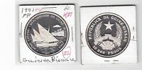 GUINEA BISSAU –  PROOF SILVER 10000 PESOS COIN 1991 YEAR KM#27 TRISTAO DISCOVERY