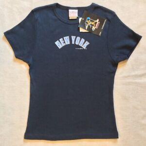 NWT NY Yankees Derek Jeter #2 Women's Baby Doll Tee Sz M, RARE