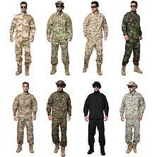 &Men Tactical Army Military Combat Camo Camouflage Jacket+Trousers Uniform Set&