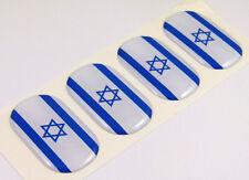 "Israel midi Israeli domed decals flag 4 emblems 1.5""x1"" Car bike laptop stickers"