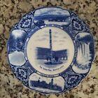 Antique Flow Blue Seattle Rare Souvenir Plate F W    Co  England 1800 s