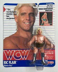 WCW Ric Flair w/ Belt Wrestling Figure Galoob Spanish Card Galoob 1990 Gradable