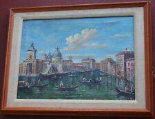 Old Venice Oil Painting on canvas w Gondola