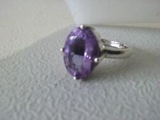 925 Sterling Silver Synthetic Purple Color Change Alexandrite  Ring US 7.75
