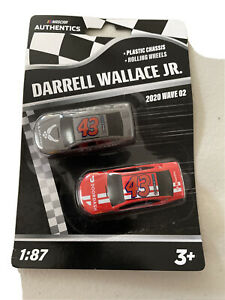 Authentics DARRELL WALLACE JR #43 NASCAR 2020 Wave 2 1/87 Die-Cast 2 Pack