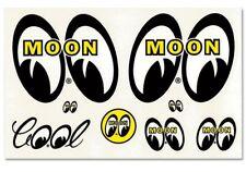 Mooneyes Aufkleberset 8-teilig Oldschool Kustom Hotrod Surf Rock-n-Roll Vintage