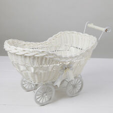 Wicker Hamper Pram Natural Baby Shower Gifts For Boy or Girl