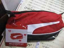 Puma Mills Dopp Kit Red Bag Case Organizer Zipper Holder Handbag Travel Toiletry
