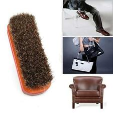 Horse Hair Brush Shoe Polish Boot Leather Polishing Care Clean Buffing Shine LG