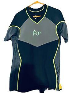Neoprene Kutting Weight Cutting Mens Sauna Shirt Black Green Neon Size X-LARGE