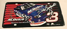 1998 Dale Earnhardt Sr & Dale Earnhardt Jr Dual Signed Metal License Plate COA