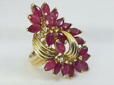 "2.13ct Ruby Diamond 14k Gold Ring Size 4 1/2"""