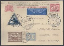 NETHERLANDS INDIES 1933 FIRST FLIGHT JAVA PLUS INNSBRUCK POSTAL CARD