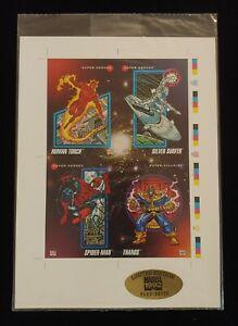 1992 Impel Sealed #d Marvel Universe Series 3 Uncut Promo Sheet Thanos Spiderman
