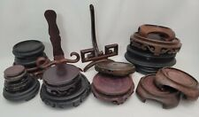 Collection Of 18 Chinese Wood Stands