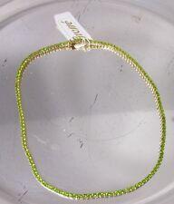 Collier gelb-Grosse Modeschmuck-Henkel & Grosse-runde Zirkonia grün-41cm(MC26)