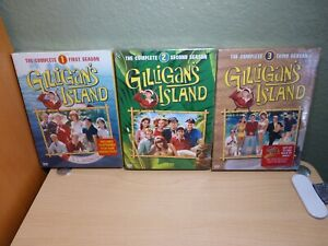 Gilligan's Island The Complete First, Second, Third Season 1 2 3 DVD Set Lot New