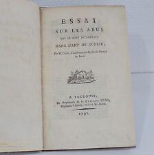 CALÈS, Essai sur les Abus qui se sont introduits dans l'Art de guérir, 1791 (EO)