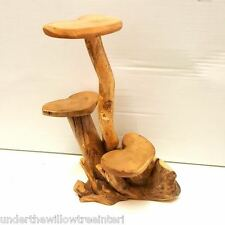 Small Coffee Root Wooden Display Stand Table Natural Fair Trade Indoor Outdoor